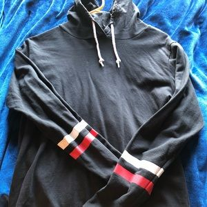 Black pullover sweater with stripes size M